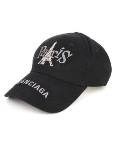 [お問い合わせ商品] BALENCIAGA 410B2/PARIS TOWER CAP / 1000 : BLACK