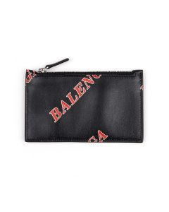 BALENCIAGA 1CBK3/WALLET / 1067 : BLACK-RED