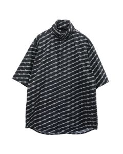 BALENCIAGA TILS7/WINDBREAKER SHIRT / 1070 : BLACK-WHITE