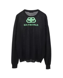 BALENCIAGA T1439/TOP / 6076 : BLACK-FLUO GREEN