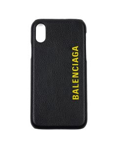 BALENCIAGA 1IZD0/COVER FOR PHONE / 1070 : BLACK-L FLUO YELLOW