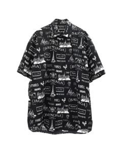 [お問い合わせ商品] BALENCIAGA TGL77/SHIRT / 1070 : BLACK-WHITE