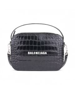 BALENCIAGA 1LRCN/HANDBAG+SHOULDER STRAP / 1000 : BLACK