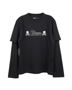 C2H4 x mastermind JAPAN DOUBLE LAYER LONG SLEEVE T-SHIRT / BLACK