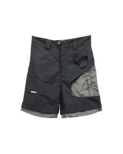 C2H4 CROOKED DOUBLE LAYERED TACTICA SHORT / BLACK
