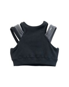 C2H4 LAYERED WOMEN SPORTY BRA / BLACK