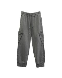 C2H4 COLD-DYE PANELLED SWEATPANTS / GRAPHITE GRAY