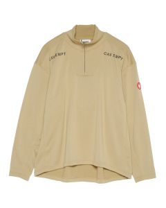 C.E BLOCK FLEECE HALF ZIP / BEIGE
