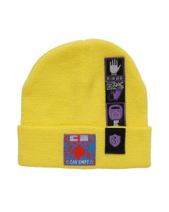 C.E PATCHED KNIT CAP / YELLOW