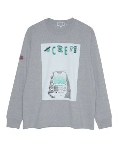 C.E WHITE MOBILE LONG SLEEVE T / GREY