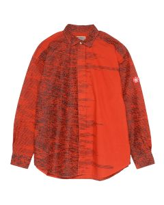 C.E FADE NOISE BIG SHIRT / RED