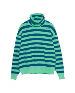C.E STRIPE STAND COLLAR SWEAT / GREEN