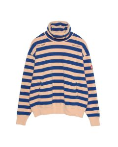C.E STRIPE STAND COLLAR SWEAT / ORANGE