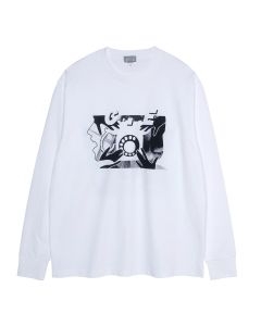 C.E ROTARY DIAL LONG SLEEVE T / WHITE