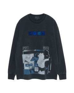 C.E OVERDYE FLIGHT LONG SLEEVE T / CHARCOAL