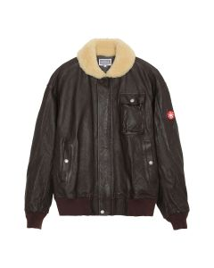C.E LEATHER BOMBER / BROWN