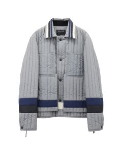 CRAIG GREEN PANELLED QUILTED WORKER JACKET / GREY