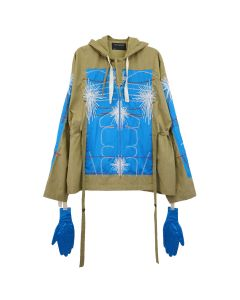 CRAIG GREEN EMBROIDERED BODY CAGOULE / BLUE