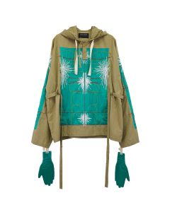 CRAIG GREEN EMBROIDERED BODY CAGOULE / GREEN