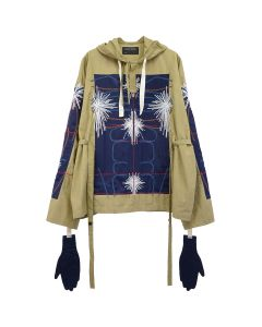 CRAIG GREEN EMBROIDERED BODY CAGOULE / NAVY