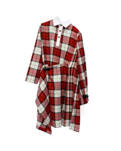 Charles Jeffrey LOVERBOY RUGBY KILT DRESS IN SCOTTISH TARTAN / WALLACE TARTAN