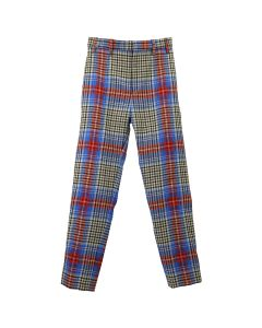 Charles Jeffrey LOVERBOY COLUMN SUIT TROUSER / LOVERBOY SHEPHARD TARTAN