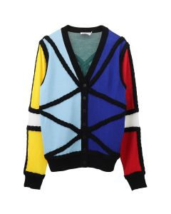 Charles Jeffrey LOVERBOY LORD OF THE FLIES CARDIGAN / MULTICOLOURED BLACK STRIPE