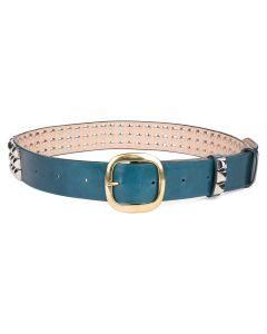 Charles Jeffrey LOVERBOY STUDDED BELT / DEEP FOREST GREEN
