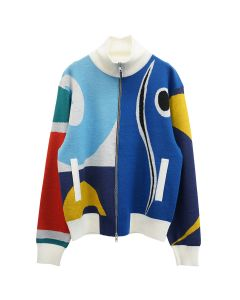 Charles Jeffrey LOVERBOY FLAG TRACKSUIT TOP / MULTICOLOURED