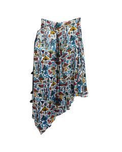 Charles Jeffrey LOVERBOY GLADE DWELLERS GATHERED SKIRT / SHROOMS PRINT