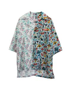 Charles Jeffrey LOVERBOY ALF 'N' 'ALF HAWAIIAN SHIRT / SHROOMS+BLOOMS PRINT