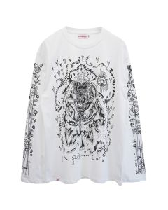 Charles Jeffrey LOVERBOY ICON LONG SLEEVE TEE / GLADYHOOT WHITE