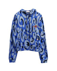 Charles Jeffrey LOVERBOY LOST BOYS HOODY / BLUE MONSTER JAQUARD