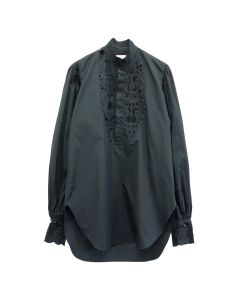Charles Jeffrey LOVERBOY LONG DARTED BLOUSE WITH EMBROIDER / BLACK