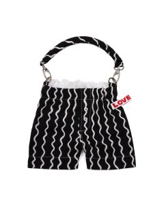 Charles Jeffrey LOVERBOY PANTIES BAG / BLACK SQUIGGLE