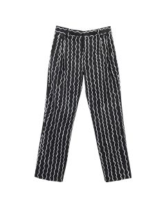 Charles Jeffrey LOVERBOY SLIM FIT TROUSER / BLACK SQUIGGLE