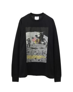 CALVIN KLEIN JEANS EST. 1978 MOON LS TEE / BLACK BEAUTY