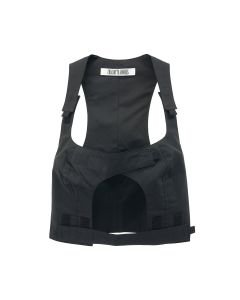 Charlotte Knowles CROSS OVER TOP WITH VELCRO DETAILING / BLACK