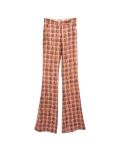 Charlotte Knowles SOFT PRINTED TAILORED TROUSERS / PINCH PLAID