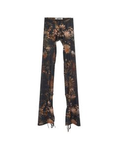Charlotte Knowles SPORT LEGGINGS WITH ANKLE TIES / DARK FLORAL