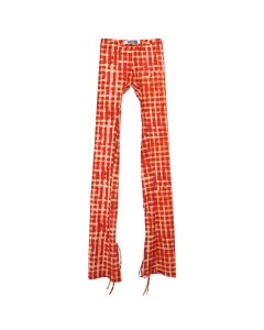 Charlotte Knowles SPORT LEGGINGS WITH ANKLE TIES / RED CHECK