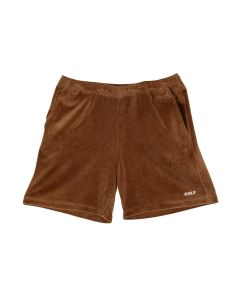 GOLF WANG COOPER VELOUR SHORTS / BROWN