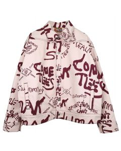 COME TEES SNAP DENIM JACKET / PINK