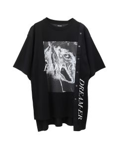 CHRISTIAN DADA COMBINED GRAPHIC PRINT SHIRT / BLACK