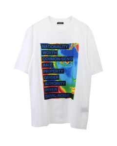 CHRISTIAN DADA GRAPHIC PRINT T-SHIRT / WHITE