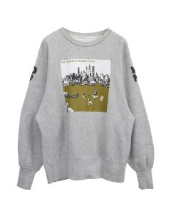 Denim Tears SUMMER OF HISSING TEARS CREWNECK 19 / GREY