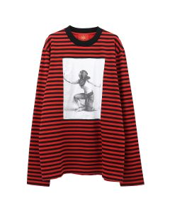 Dilara Findikoglu THEDE BARA STRIPED LONGSLEEVE / RED-BLACK