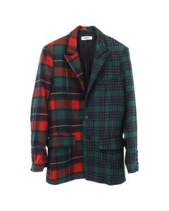 DANIELLE GUIZIO WOOL OVERSIZED PLAID BLEAZER / MULTI