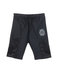 DANIELLE GUIZIO GUIZIO BLACK MESH BIKE SHORTS / BLACK