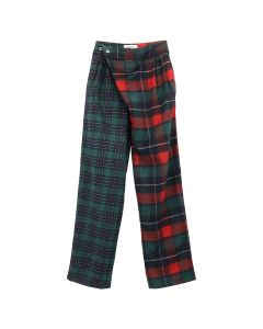 DANIELLE GUIZIO SAFETY PIN TROUSER PLAID / RED